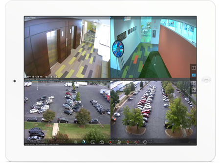 iPad with video surveillance